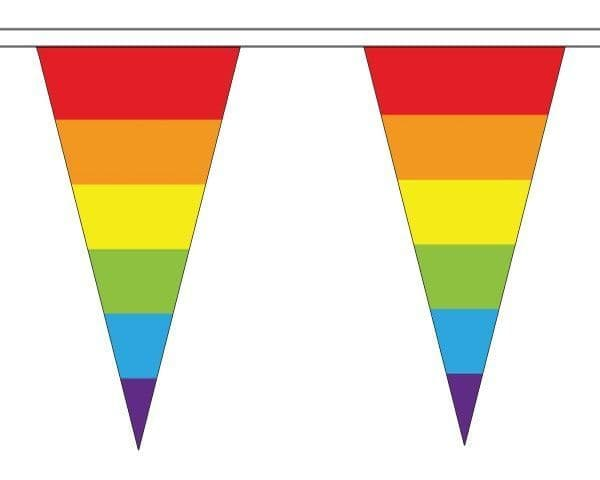Rainbow Triangle Bunting (20m) - 54 Flags