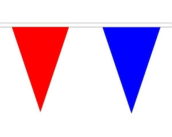 Red & Blue Triangle Bunting (20m) - 54 Flags
