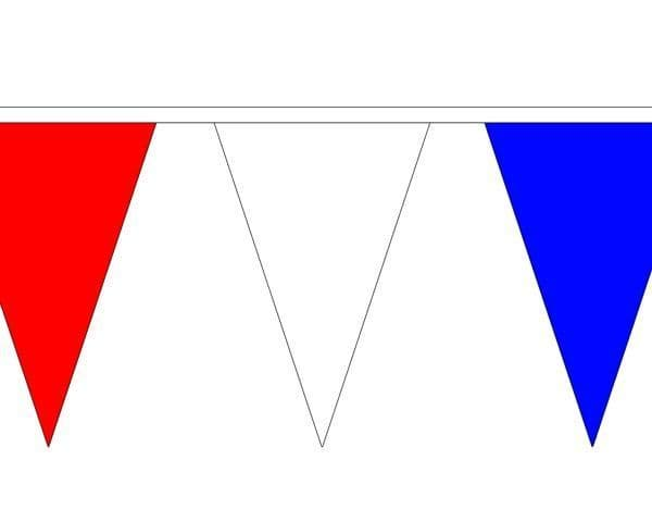 Red, White & Blue Triangle Bunting (5m) - 12 Flags