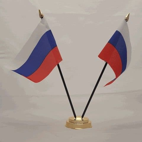 Russia Double Table Flag