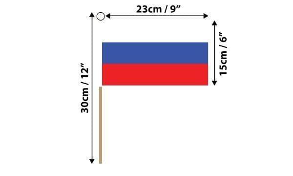 Russia Hand Flag