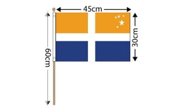 Scilly Isles Large Hand Flag (18