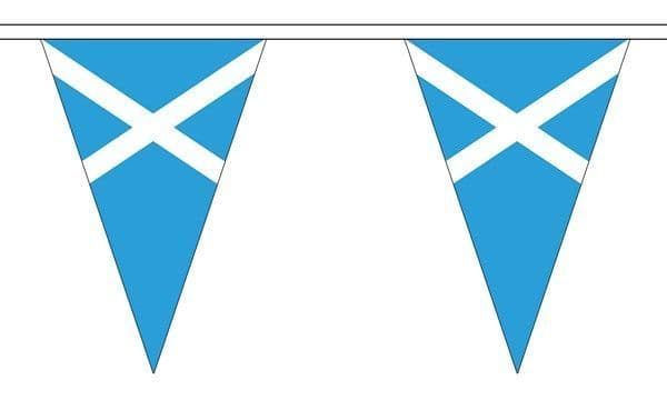 Scotland (Light Blue) Triangle Bunting (5m) - 12 Flags