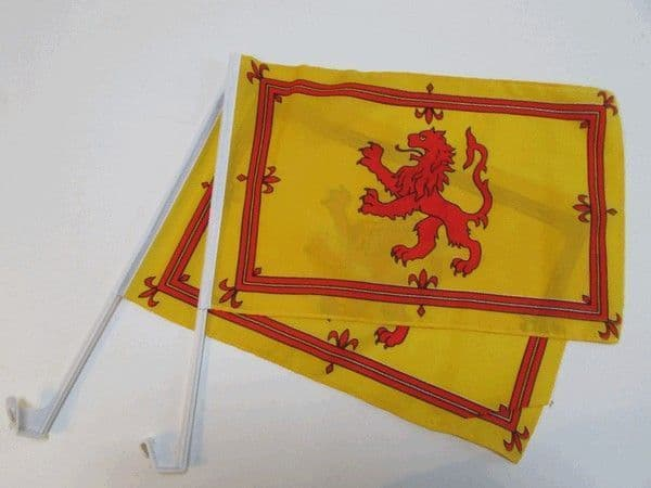 Scotland Lion Car Flag - 2 Pack