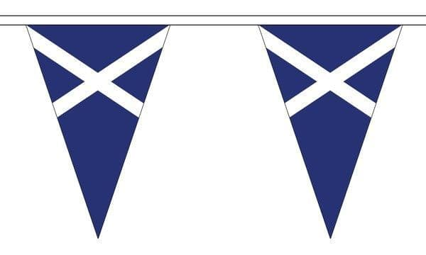 Scotland (Navy Blue) Triangle Bunting (5m) - 12 Flags
