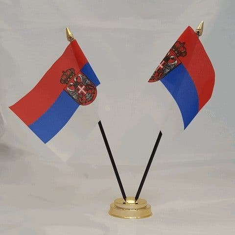 Serbia Double Table Flag