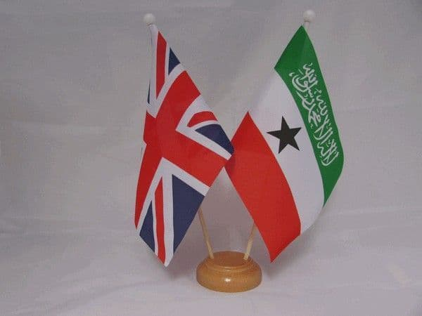 Somaliland Friendship Wooden Table Flag