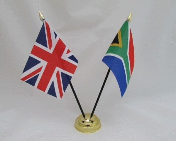 South Africa with UK Friendship Table Flag