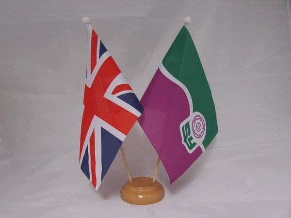 South Yorkshire Friendship Wooden Table Flag