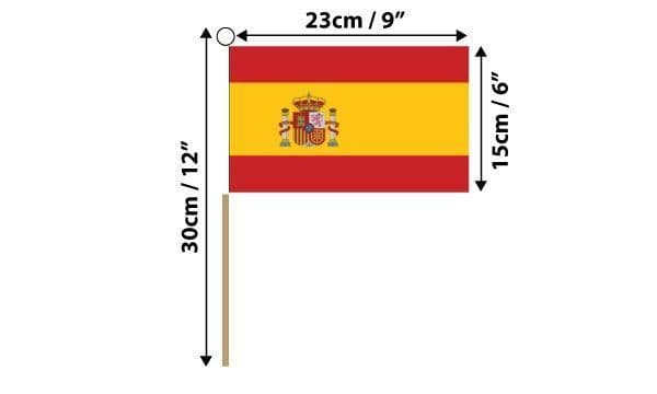 Spain State Hand Flag