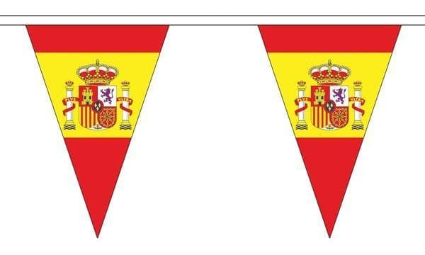 Spain State Triangle Bunting (20m) - 54 Flags