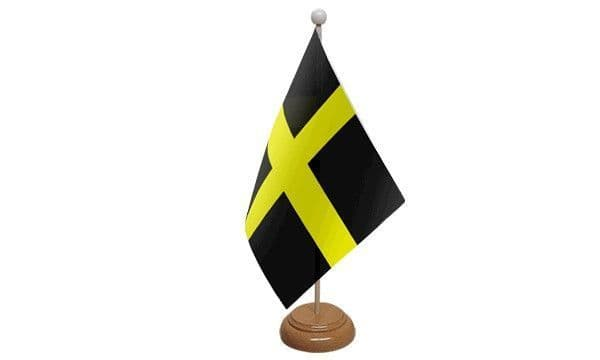 St David Wooden Table Flag