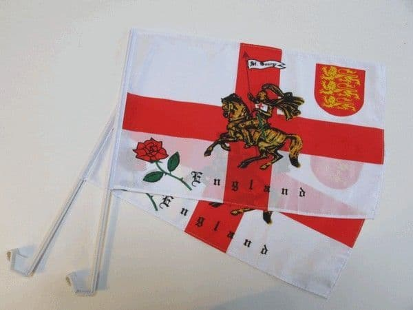 St George Charger Car Flag - 2 Pack