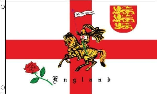 St George Charger SLEEVED Flag - 1.5ft x 1ft
