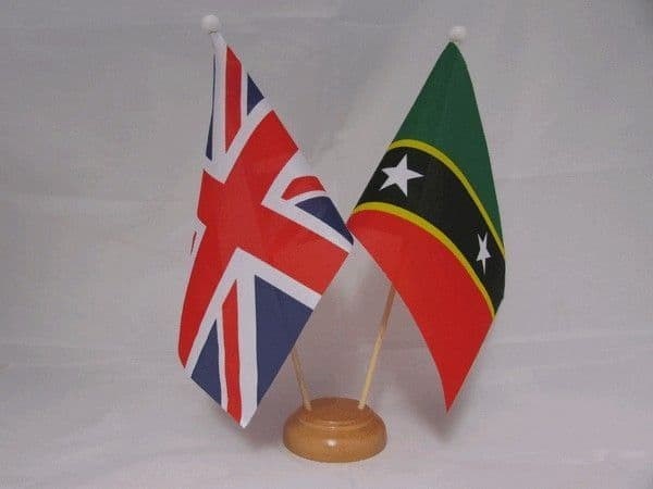 St Kitts and Nevis Friendship Wooden Table Flag