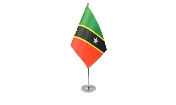 St Kitts and Nevis Satin Table Flag
