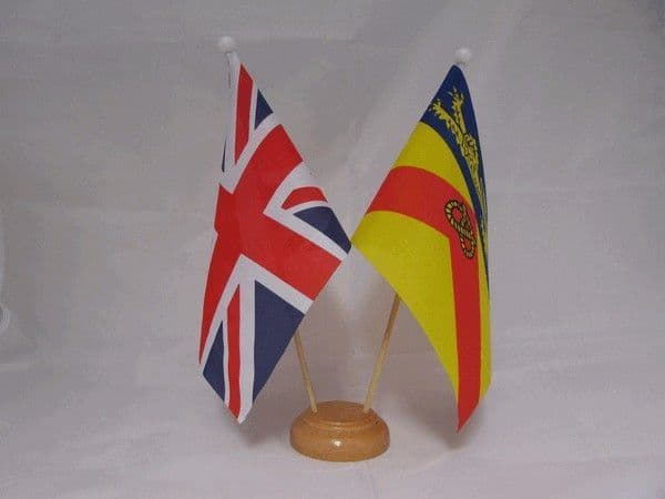 Staffordshire Friendship Wooden Table Flag