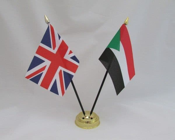 Sudan with UK Friendship Table Flag