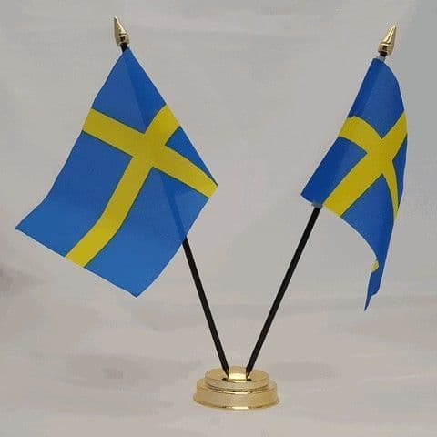 Sweden Double Table Flag
