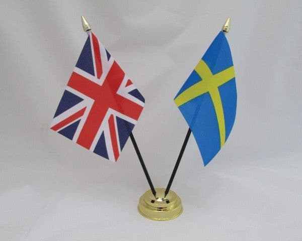 Sweden with UK Friendship Table Flag