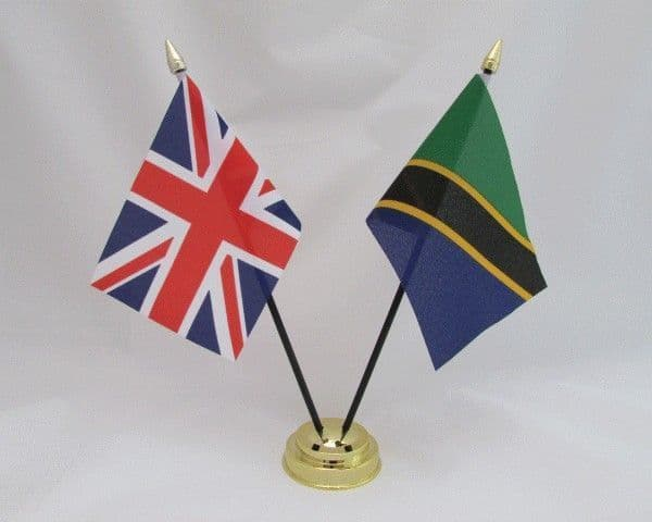 Tanzania with UK Friendship Table Flag