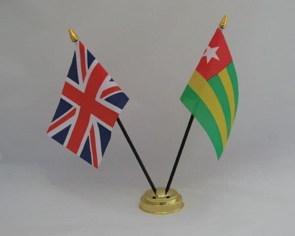 Togo with UK Friendship Table Flag