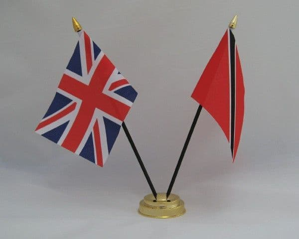 Trinidad and Tobago with UK Friendship Table Flag