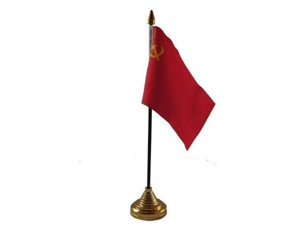 USSR Hammer and Sickle Table Flag