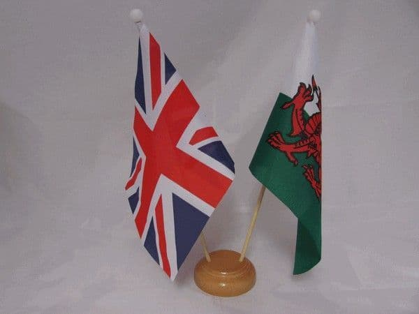 Wales Friendship Wooden Table Flag