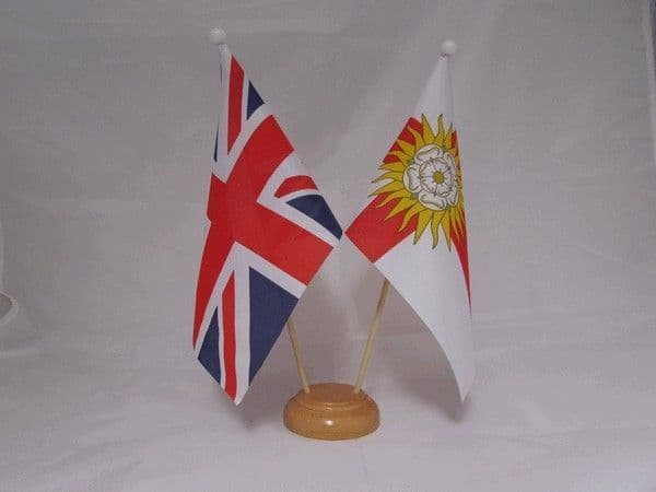 West Riding of Yorkshire Friendship Wooden Table Flag