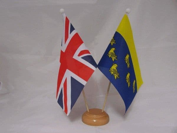 West Sussex Friendship Wooden Table Flag