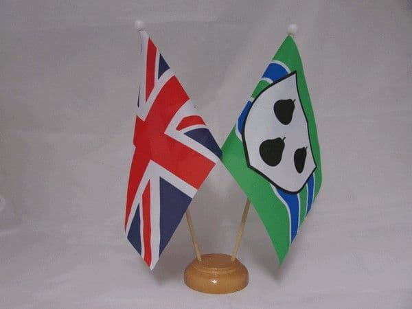 Worcestershire Friendship Wooden Table Flag