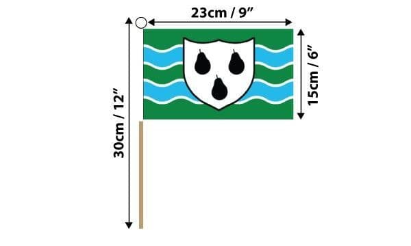 Worcestershire Hand Flag