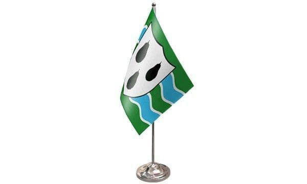 Worcestershire Satin Table Flag