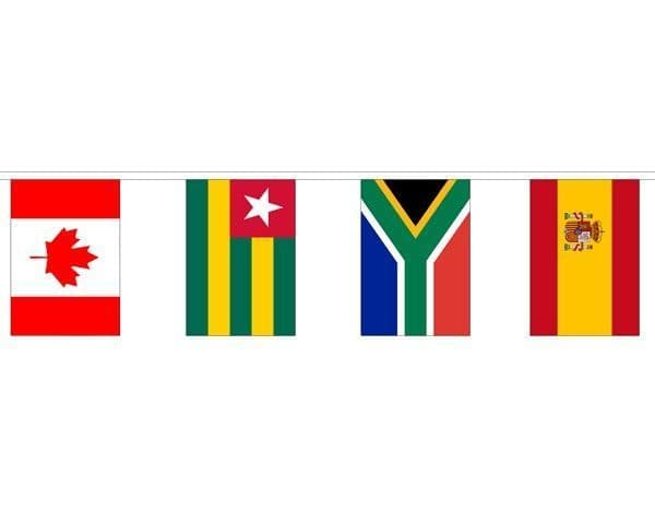 World Country Mixed Bunting (57m) - 181 Flags