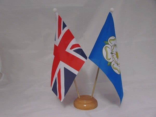 Yorkshire Friendship Wooden Table Flag