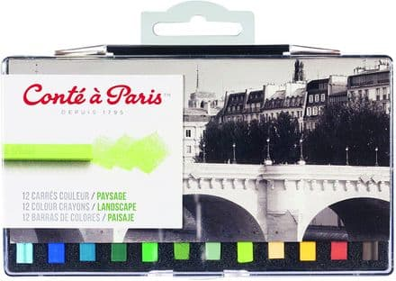 Conté à Paris  Colour Carre Landscape Crayons (Pack of 12) , 50246