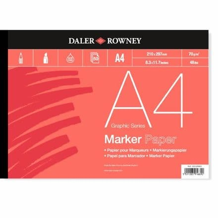 Daler Rowney A4 Graphic Series Bleedproof 50 Page 70g Marker Pad