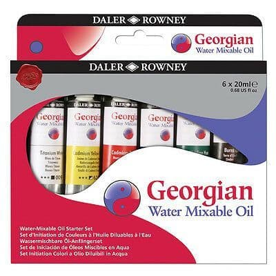 Daler Rowney Georgian Water Mixable Oil Paint Starter Set of 6 x 20ml