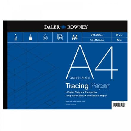 Daler Rowney Graphics Series Tracing Gummed Pad 60gsm A4  Size Pad