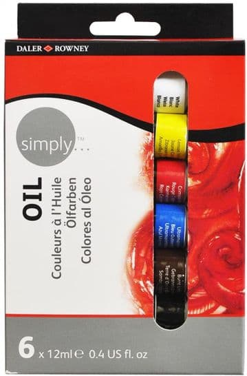Daler Rowney Simply 12 ml Oil Paint sets ( 24 Tubes ,12 tubes and 6 tubes)