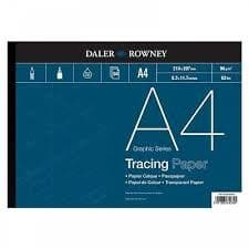 Daler Rowney Tracing Paper Pad - 50 Sheets - Acid Free - 90 gsm - A4