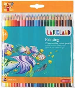 Derwent Lakeland Watercolour Painting Pencils, Set of 24, School or Home Use, 33255
