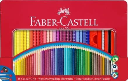 Faber-Castell Playing & Learning Tin of 48 Colour GRIP Pencils 112448