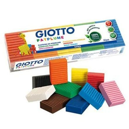 Giotto Patplume 10 x 50g Clay blocks Assorted Colours