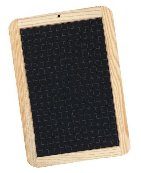 Giotto Slate Chalk Board with Grid 18 x 26 cm
