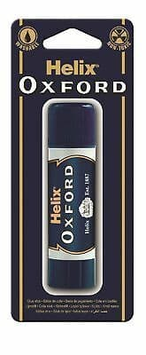 Helix Oxford Glue Stick Medium 21g School Stationery Office Home Washable Paper