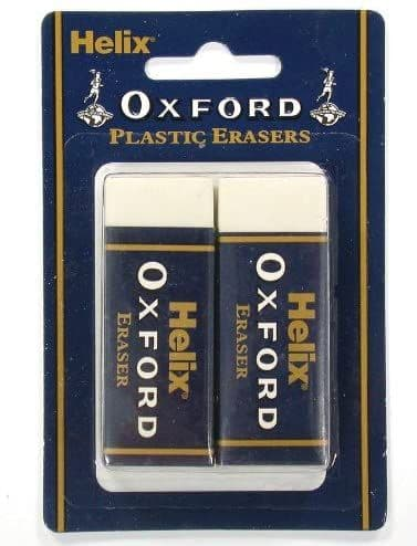 Helix Oxford Twin Pack of Erasers