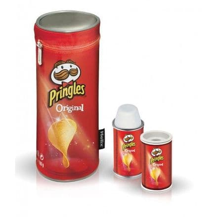 Helix Pringles stationary 3 in 1 gift set, Pencil case, shapnerer & eraser
