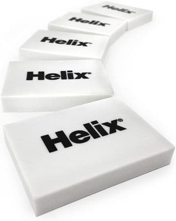 Helix Small White Classic Erasers (Box of 40)